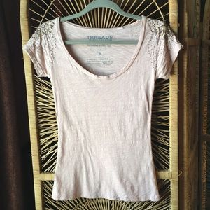 🔴3/$20 THREADS 4 THOUGHT Beaded Shoulder Pink S